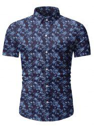 Floral Print Short Sleeve Lounge Shirt -