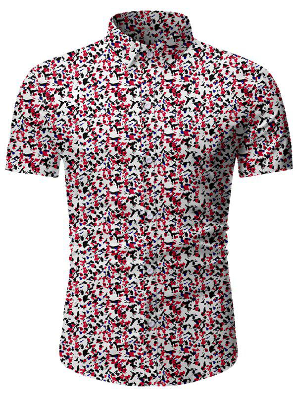 Buy Tiny Flower Button Up Short Sleeve Shirt