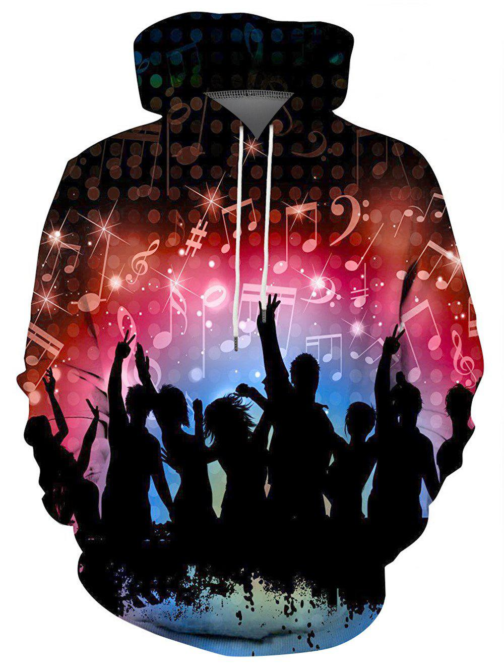 Shops Rocking People Graphic Front Pocket Casual Hoodie