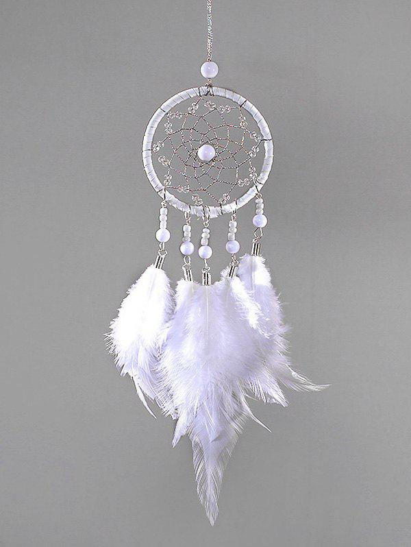 Latest Faux Pearl Beaded Feather Dream Catcher