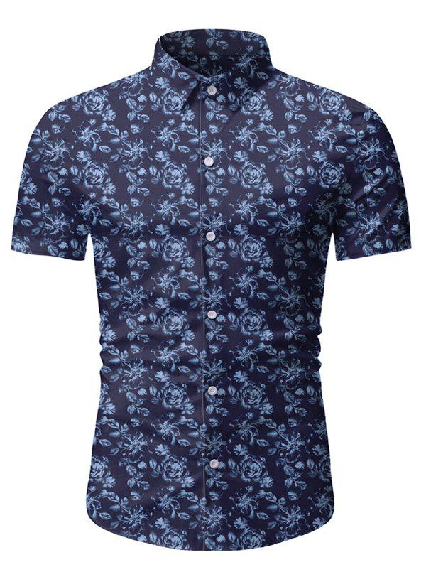 Latest Floral Print Short Sleeve Lounge Shirt