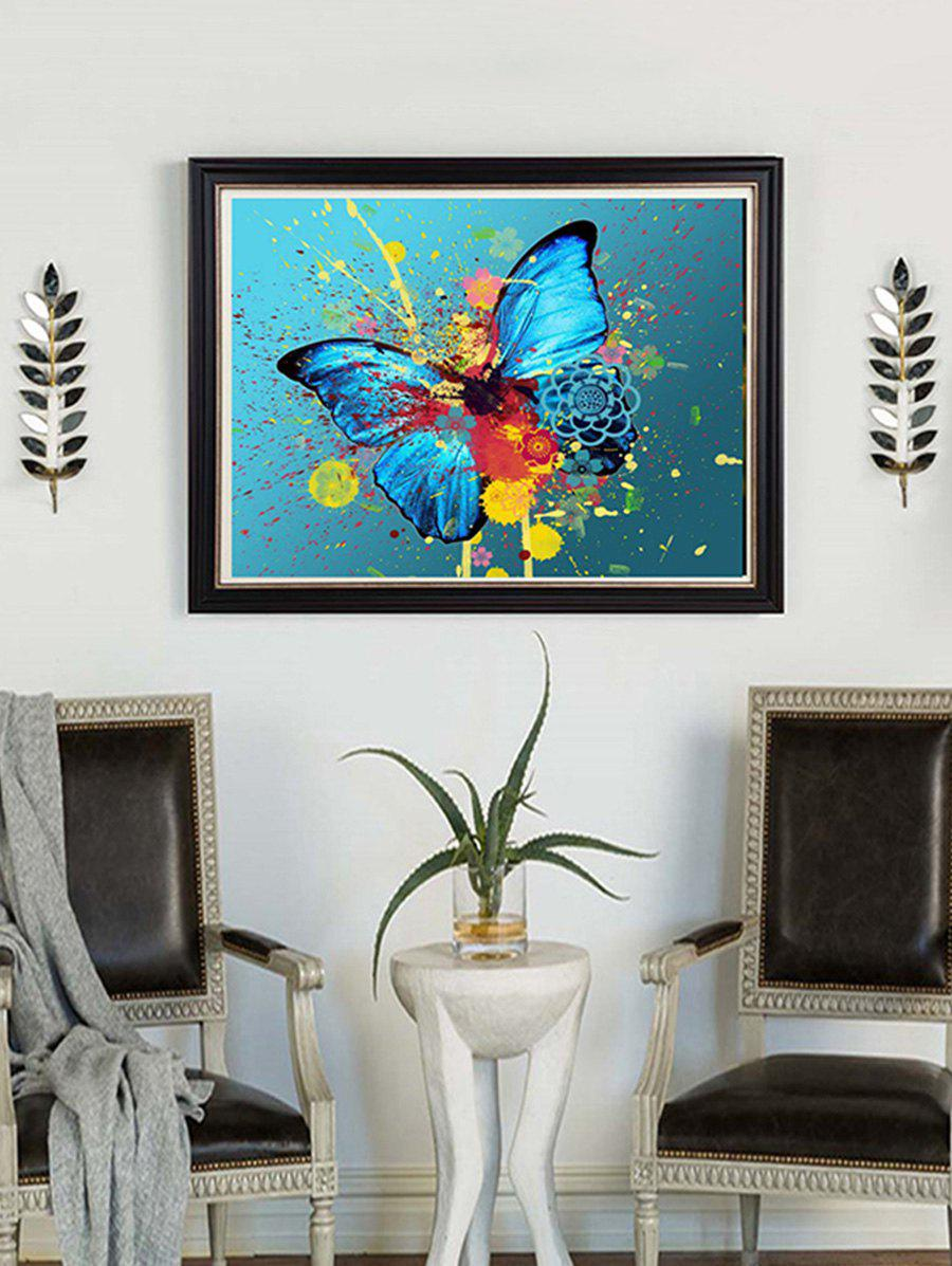 New Butterfly Paint Splatter Print Unframed DIY Rhinestone Painting