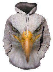 Eagle Pattern Casual Pouch Pocket Hoodie -