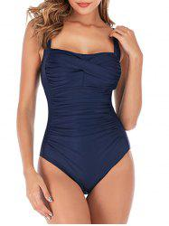 Open Back Tummy Control Padded Swimsuit -