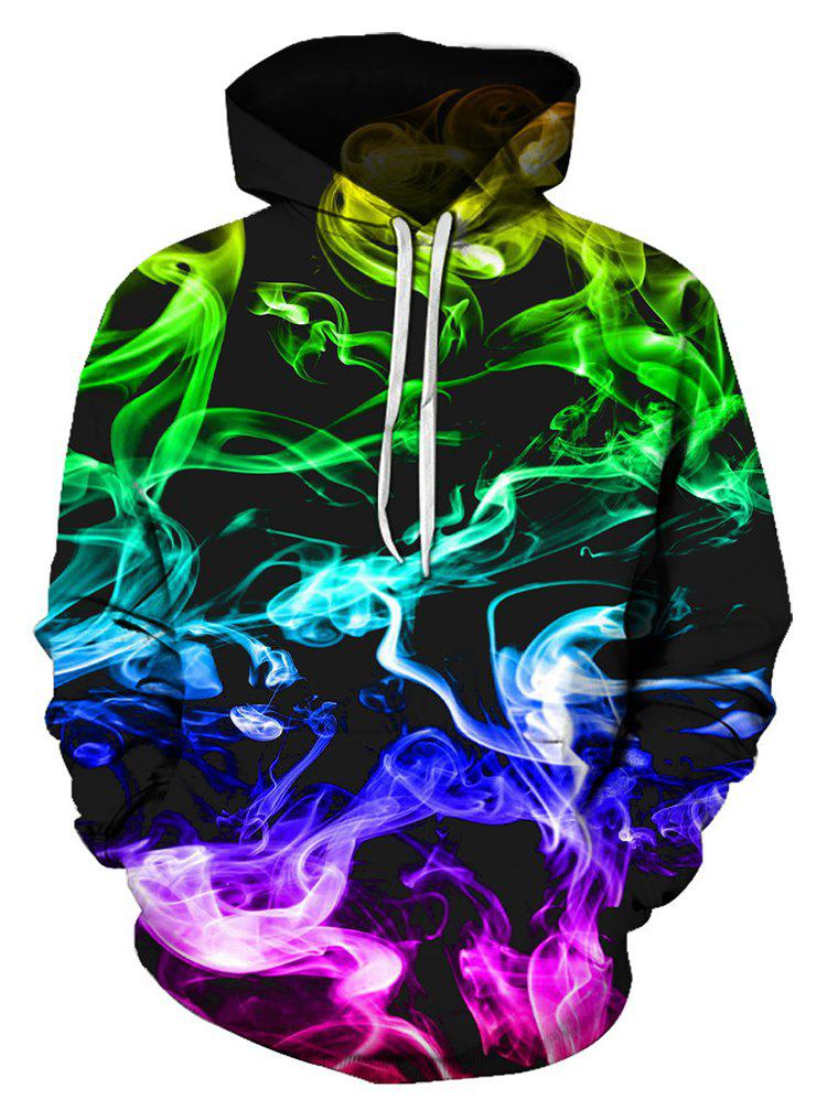 Outfits Colorful Aurora Print Pocket Hoodie
