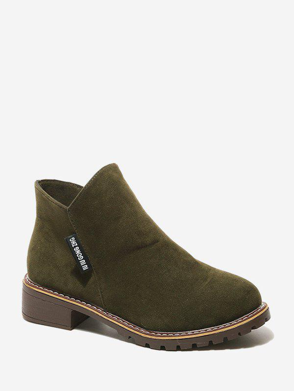Best Solid Suede Round Toe Ankle Boots