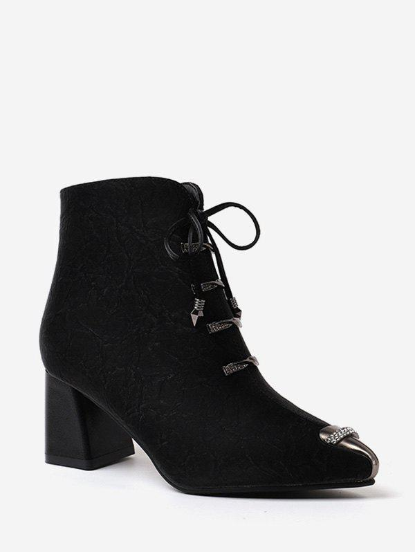 Fashion Rhinestone Accent Bowknot Pointed Toe Ankle Boots