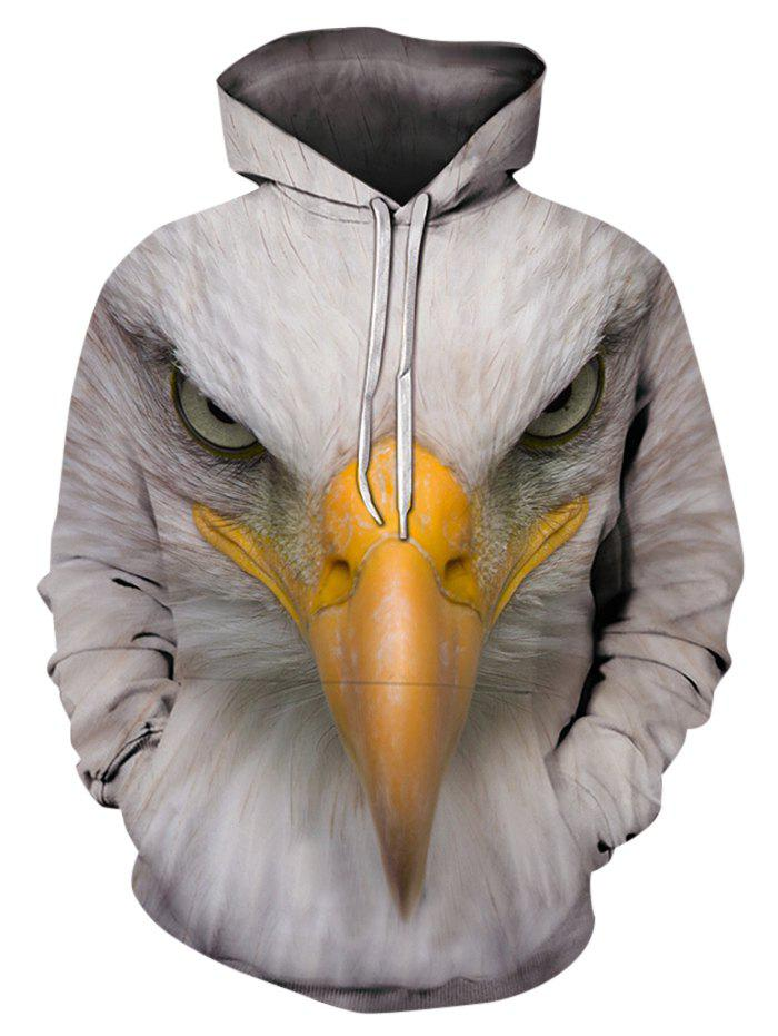 Buy Eagle Pattern Casual Pouch Pocket Hoodie