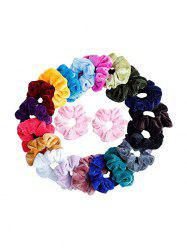 21PCS Solid Color Hair Scrunchies -