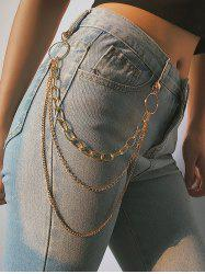 Simple Style Multilayered Keychain Belt -