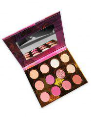 12 Colors Foggy And Glitter Eye Shadow Palette -