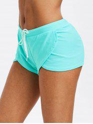 Drawstring Solid Tulip Shorts -
