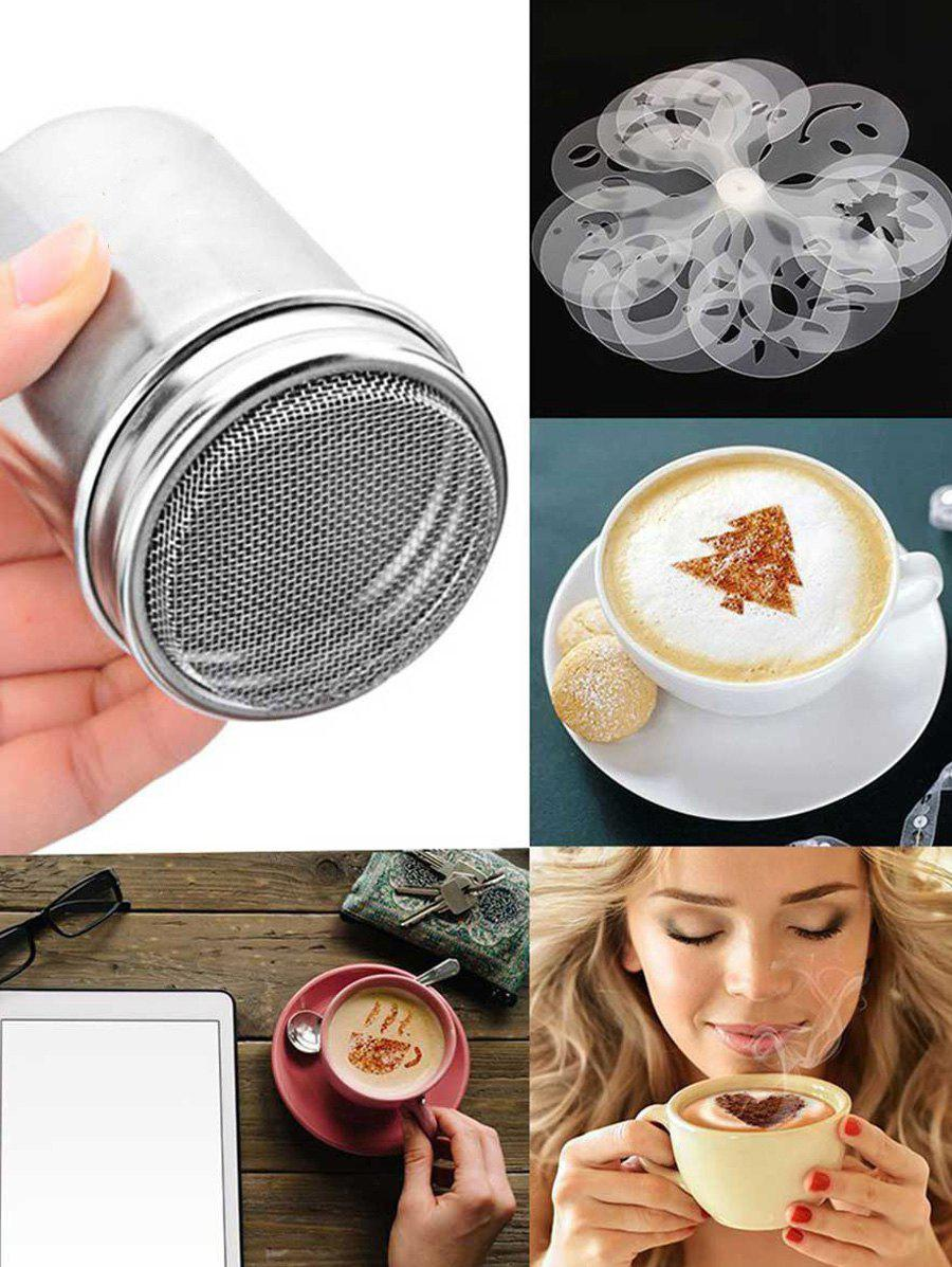 Shop 16 Pcs DIY Coffee Molds and Stainless Steel Sifter