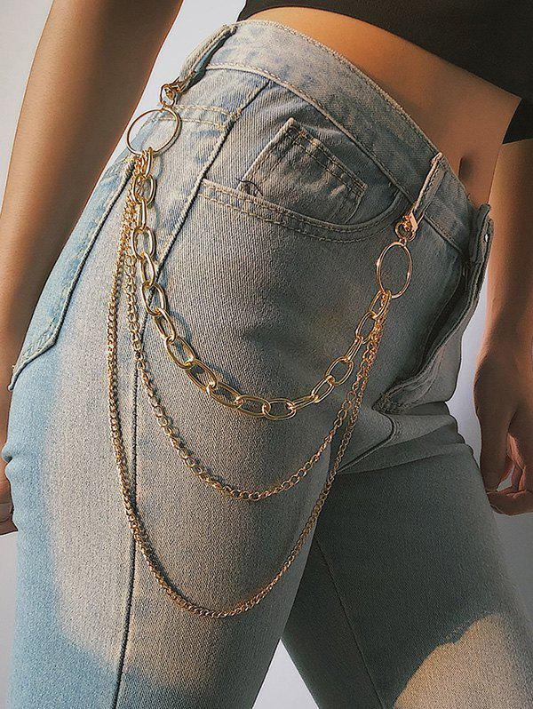 Outfits Simple Style Multilayered Keychain Belt
