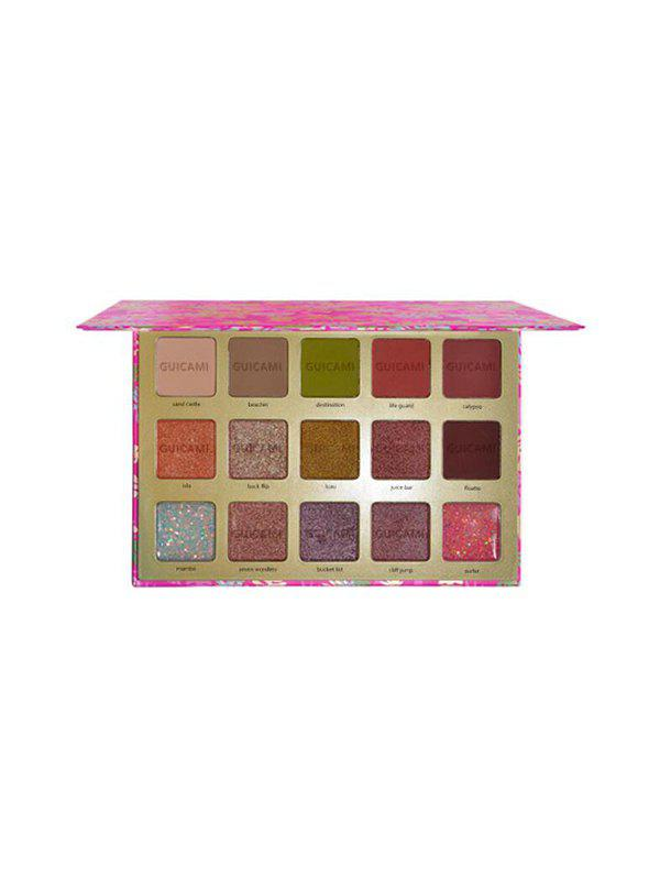 Discount Flamingo Print 15 Colors Glitter And Foggy Eyeshadow Palette