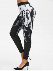 Octopus Print High Rise Skinny Pants -