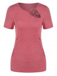 O Ring Ruched T Shirt -