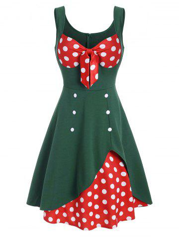 Polka Dot Bowknot Sweetheart Vintage Dress