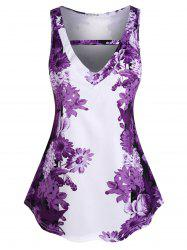 Plus Size Floral Print Tank Top -