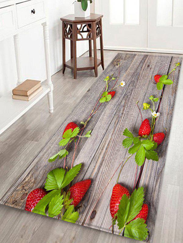 Shops Strawberry Plank Pattern Floor Rug