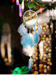 Home Decoration Star Shape LED Lights Feather Dream Catcher -