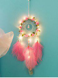 Flower Dream Catcher Feather Hanging Decoration -