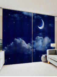 Moon Sky Pattern Window Curtains -