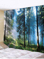 Decor Forest Print Polyester Tapestry -