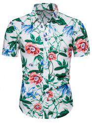 Floral Print Button Up Hawaii Shirt -