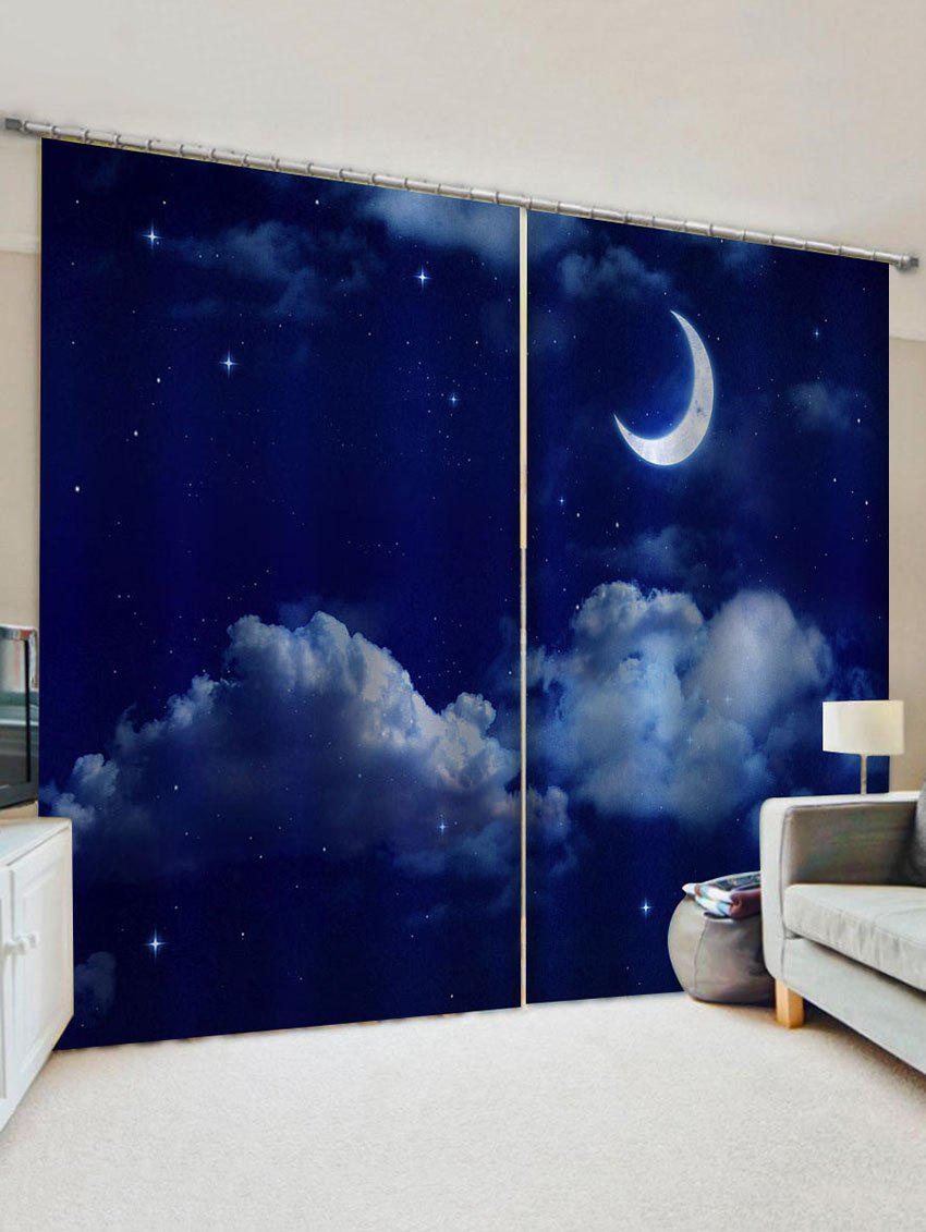 Discount Moon Sky Pattern Window Curtains