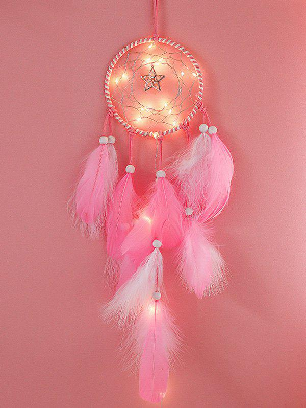 New Home Decoration Star Shape LED Lights Feather Dream Catcher