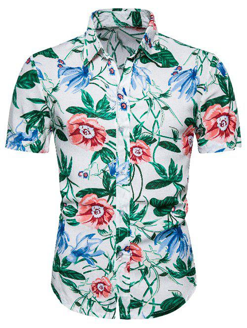 Buy Floral Print Button Up Hawaii Shirt