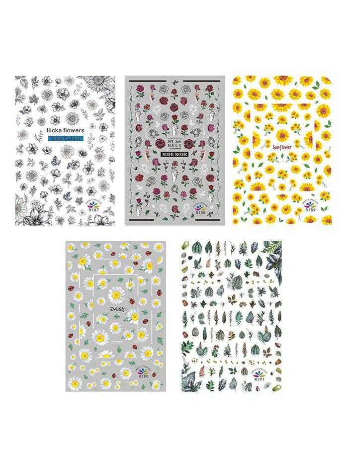 Buy Flower Plant Decorative Nail Stickers