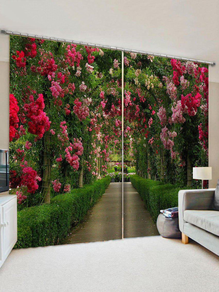 Shops Flower Garden 3D Print Decorative Window Curtains