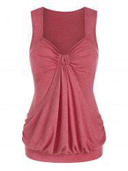 Heathered Ruched Blouson Tank Top -