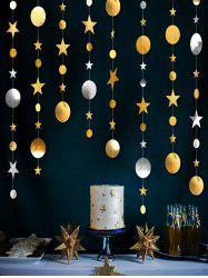 Party Decorations 4 Meters Moon and Stars Pattern Party Banner -