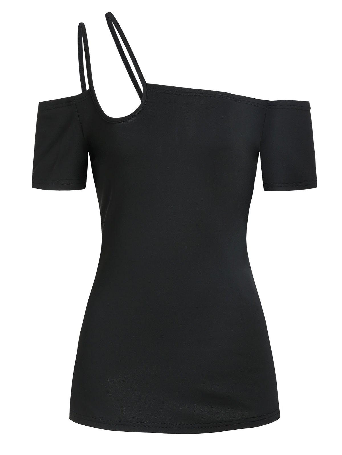 Store Strappy Short Sleeve Plain T-shirt