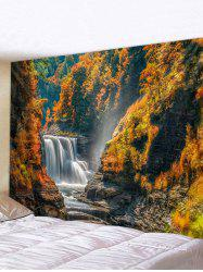 Mountain River Waterfall Print Tapestry Wall Hanging Art Decoration -