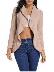 Open Front Solid Waterfall Jacket -