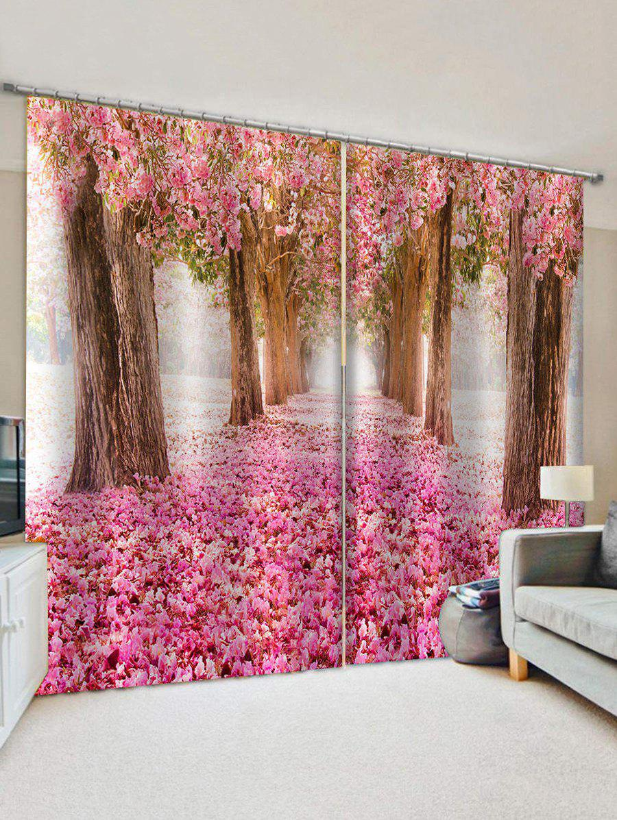 Cheap Flower Forest Print Decorative Window Curtains