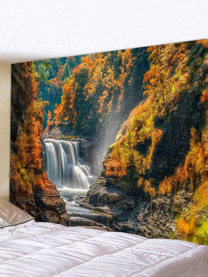 Discount Mountain River Waterfall Print Tapestry Wall Hanging Art Decoration