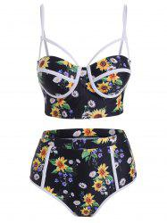Sunflower Underwire High Rise Bikini Swimwear -