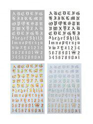 Laser Magic Letter Nail Stickers -