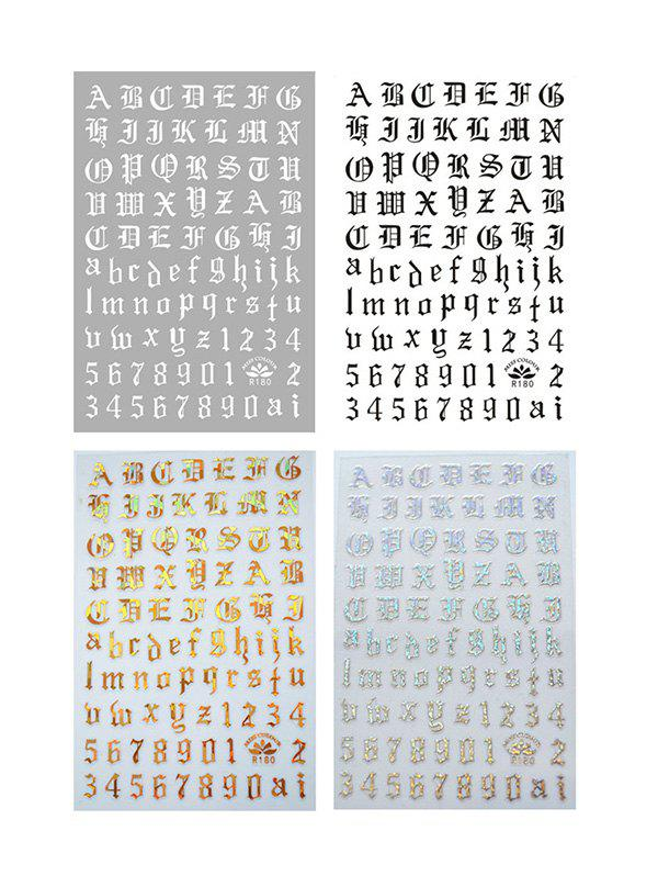 Store Laser Magic Letter Nail Stickers