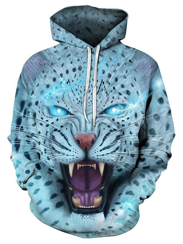 Trendy Animal Pattern Pouch Pocket Hoodie
