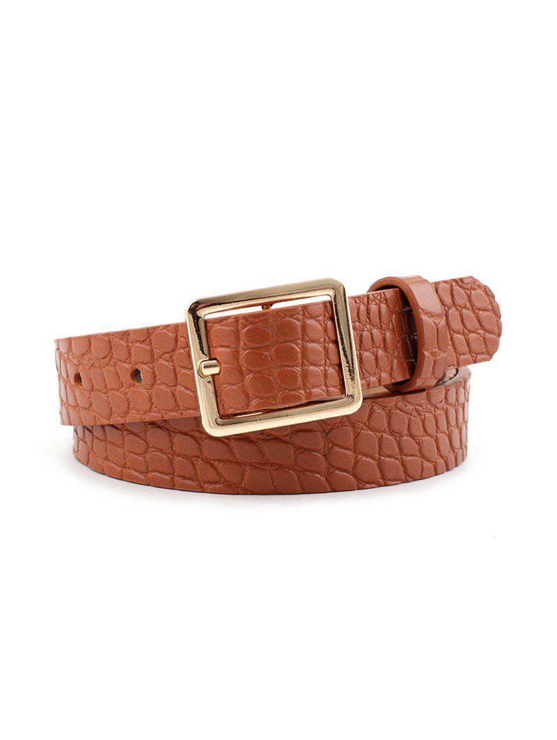 Latest Textured PU Square Pin Buckle Belt