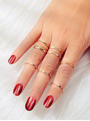 Embossed Alloy Rings Set -