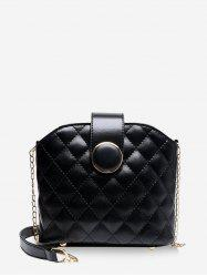 Quilted Leather Chain Bucket Sling Bag -