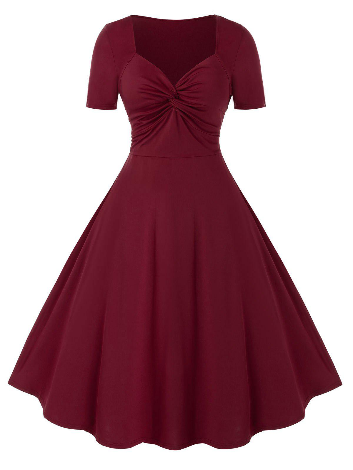 Plus Size Knot Embellished Dress Rosegal