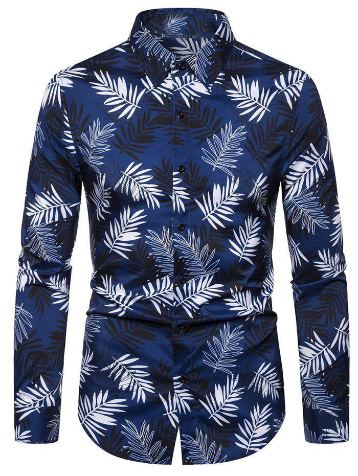 Buy Leaf Pattern Full Sleeves Shirt